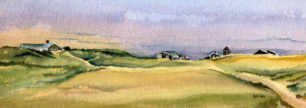 Wall Art - Painting - Cottages In The Dunes by Heidi Gallo