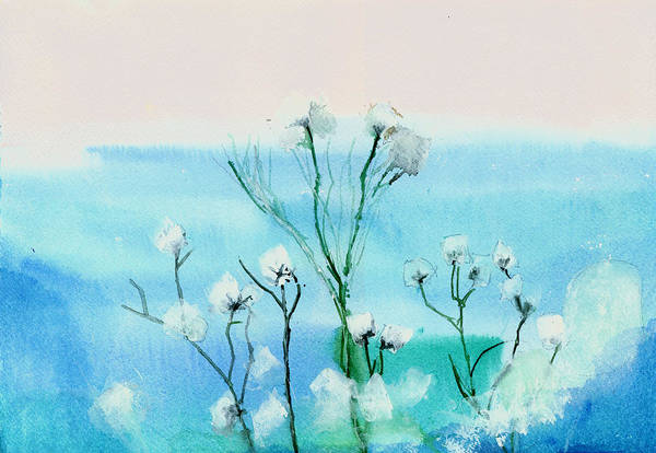 Painting - Cotton Poppies by Anil Nene