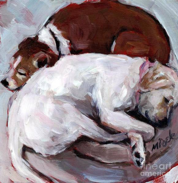 Snuggle Painting - Cottonball by Molly Poole