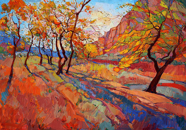 Wall Art - Painting - Cottonwood Shadow by Erin Hanson