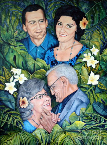 Hibiscus Flower Painting - Could I Have This Dance For The Rest Of My Life? by Joey Nash