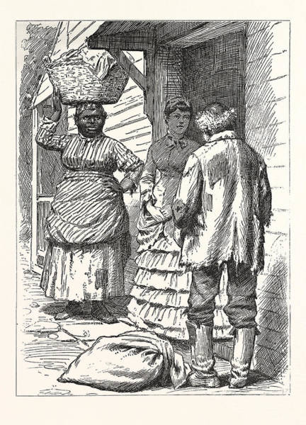 Early American History Drawing - Could I Sleep In The Kitchen, Us, Usa, America by American School