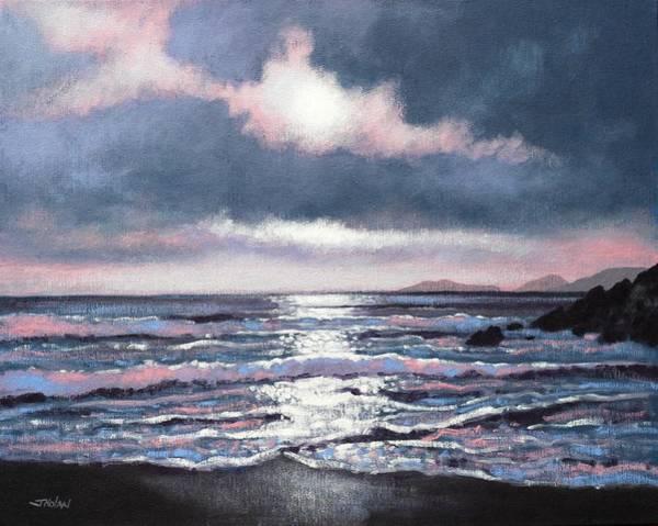 Homage Wall Art - Painting - Coumeenole Beach  Dingle Peninsula  by John  Nolan