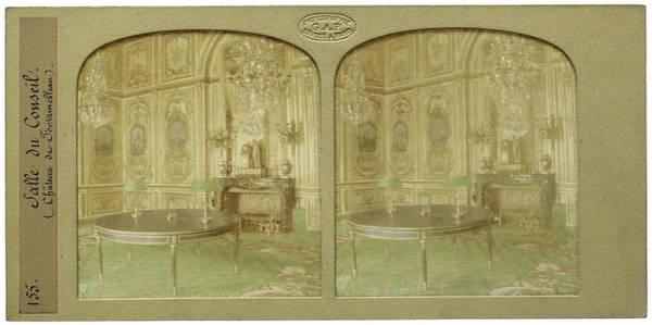 Chateau Drawing - Council Chamber Chateau De Fontainebleau Paris France by Artokoloro