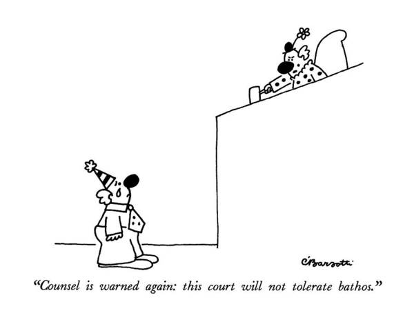Court Drawing - Counsel Is Warned Again: This Court by Charles Barsotti