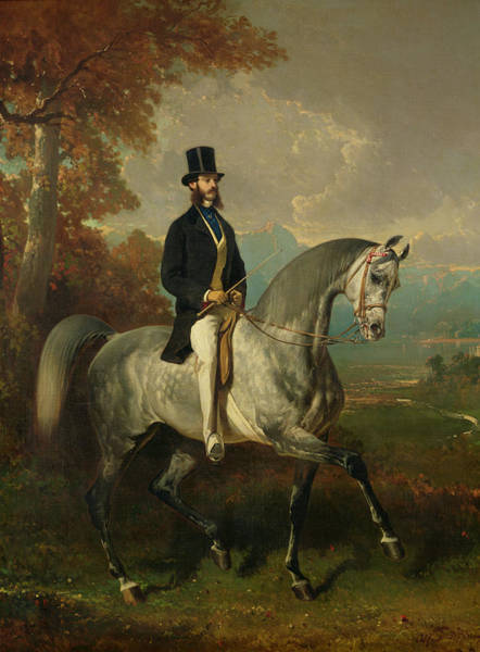 Comte Wall Art - Photograph - Count Alfred De Montgomery 1810-91 1850-60 Oil On Canvas by Alfred Dedreux