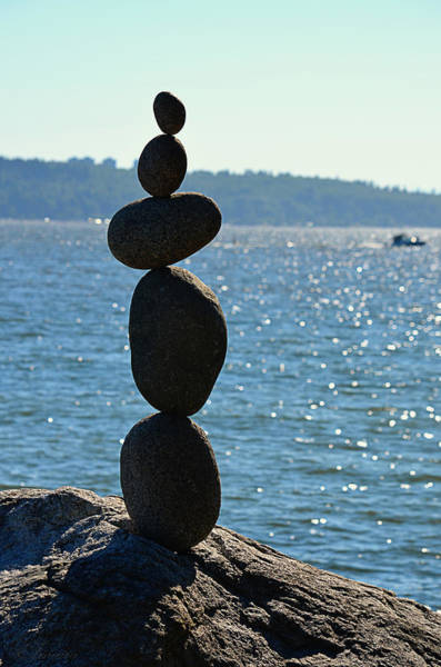 Balancing Rocks Photograph - Counter Balance by Maria Angelica Maira