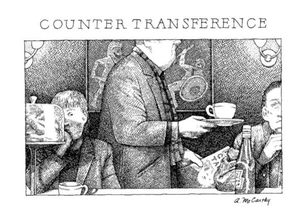 Dine Drawing - Counter Transference: Title by Ann McCarthy