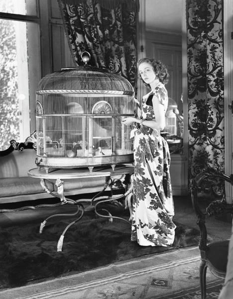 Schiaparelli Photograph - Countess De Rouvre Wearing A Dress by Horst P. Horst