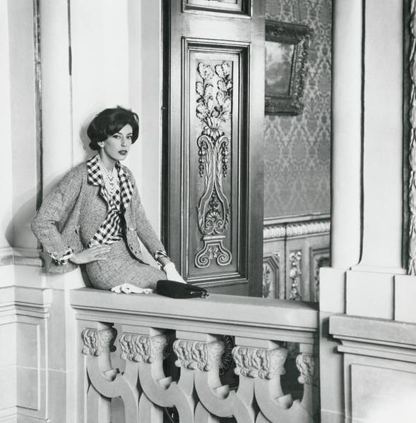 European Photograph - Countess Guy D'arcangues Wearing A Chanel Suit by Henry Clarke