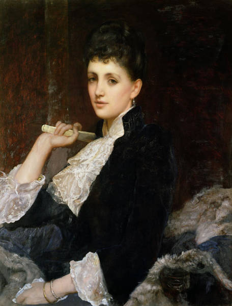 Lace Painting - Countess Of Airlie by Sir William Blake Richmond
