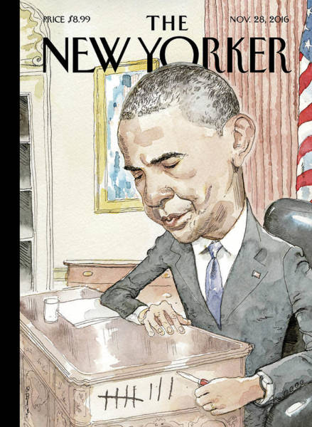 Obama Painting - Counting by Barry Blitt