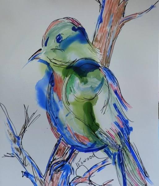Elwood Blues Painting - Country Bird by Jann Elwood