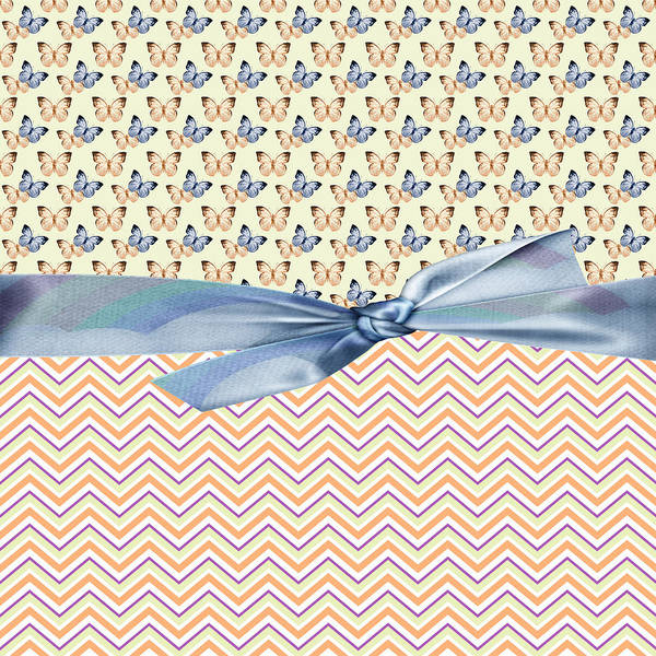 Blue Bug Digital Art - Country Butterflies by Debra  Miller