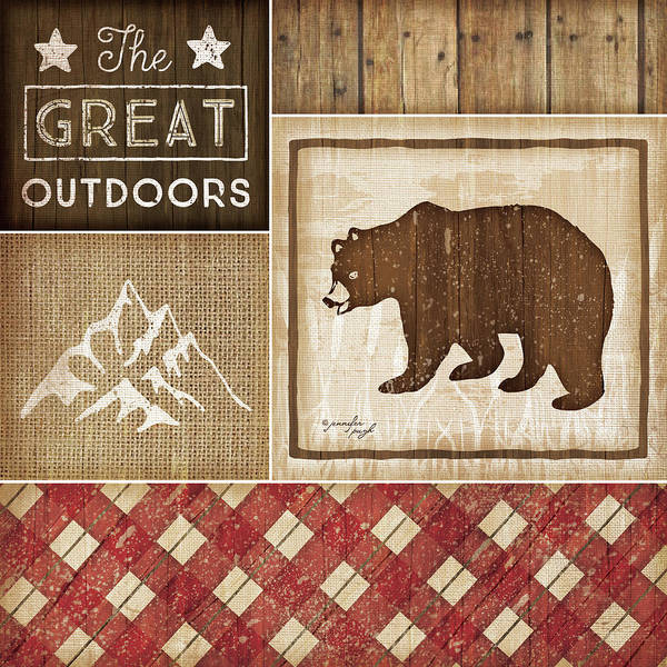 Bear Country Wall Art - Painting - Country Cabin IIi by Jennifer Pugh
