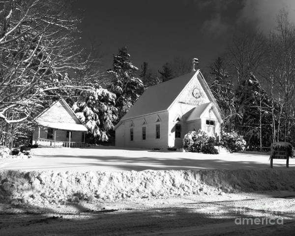 Photograph - Country Church And School House by Donna Cavanaugh