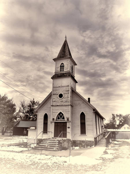 Photograph - Country Church - Buffalo Gap South Dakota by HW Kateley