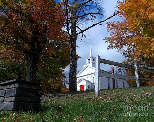 Photograph - Country Church by Donna Cavanaugh