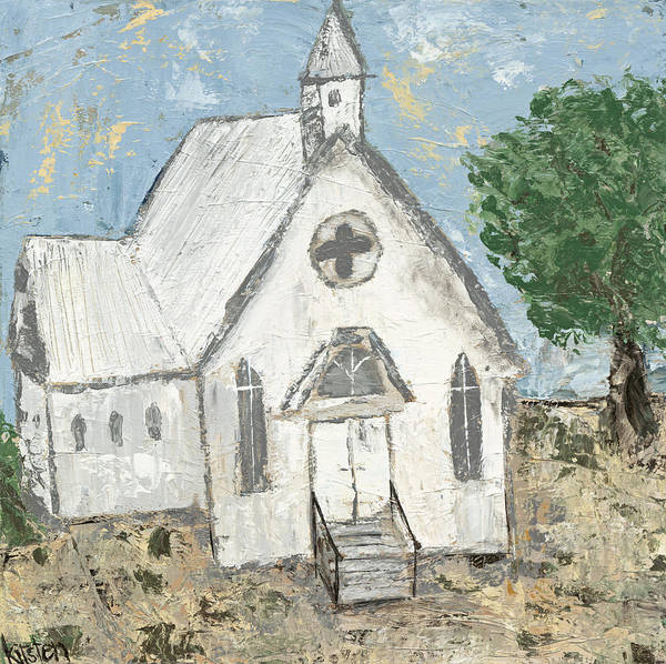 Wall Art - Painting - Country Church by Kirsten Reed