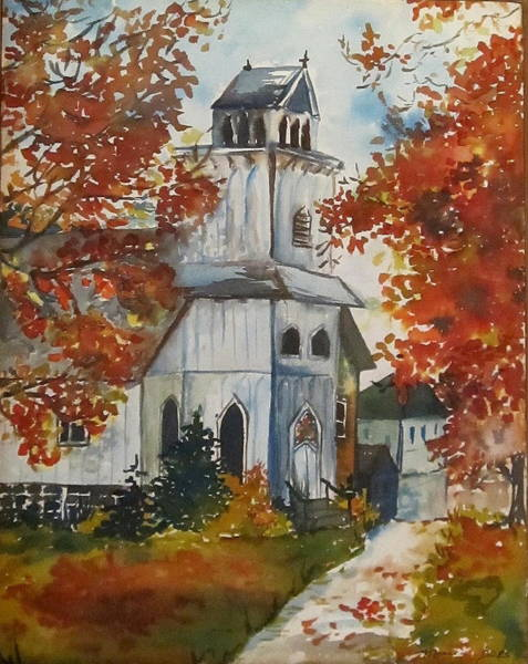 Painting - Country Church by Monica Ironside