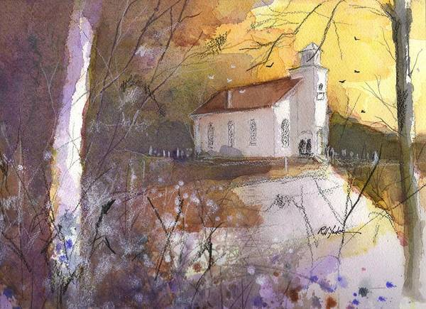 Chapels Painting - Country Church  by Robert Yonke