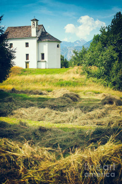 Photograph - Country Church With Hay by Silvia Ganora