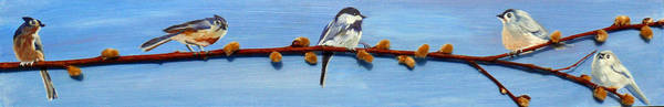 Titmouse Painting - Country Club by Susan Duda