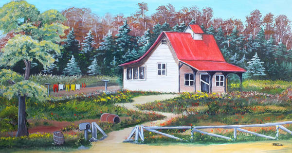 Painting - Country Cottage by Chris McCullough