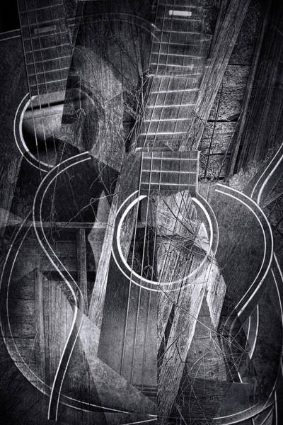 Photograph - Country Cubist Guitar by Randall Nyhof