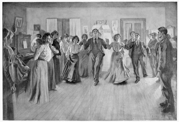 Drawing - Country Dance, 1901 by Granger