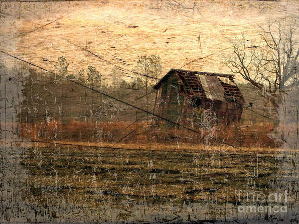 Wall Art - Digital Art - Country Foggy Morn by Suzanne Muldrow