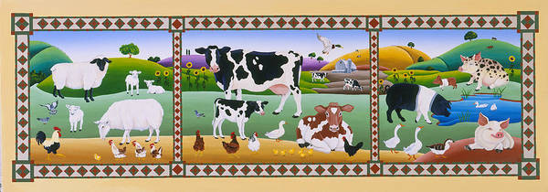 Wall Art - Painting - Country Folk by Raul Del Rio