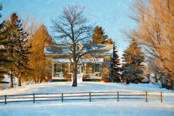Impasto Photograph - Country Home Impasto by Steve Harrington