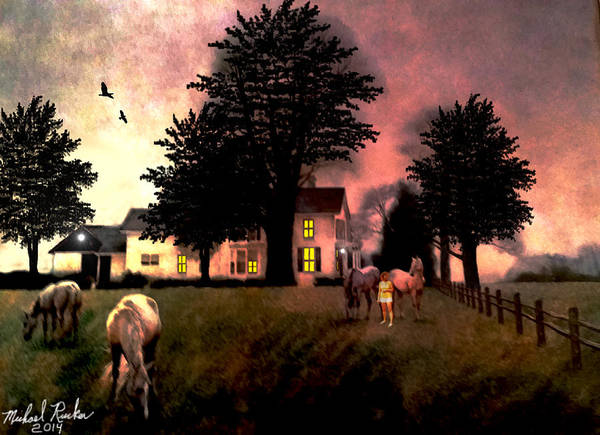 Wall Art - Painting - Country Home by Michael Rucker