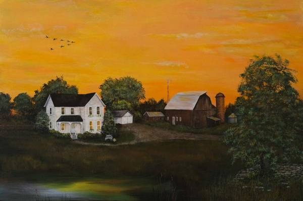 Painting - Country Home by Nancy Lauby