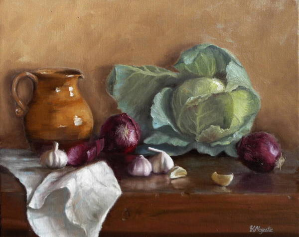 Cabbage White Painting - Country Kitchen by Viktoria K Majestic
