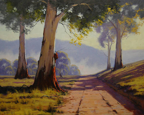 Old Tree Painting - Country Road Australia by Graham Gercken