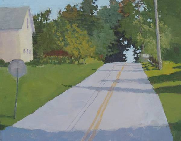 Stop Light Painting - Country Road - Art By Bill Tomsa by Bill Tomsa