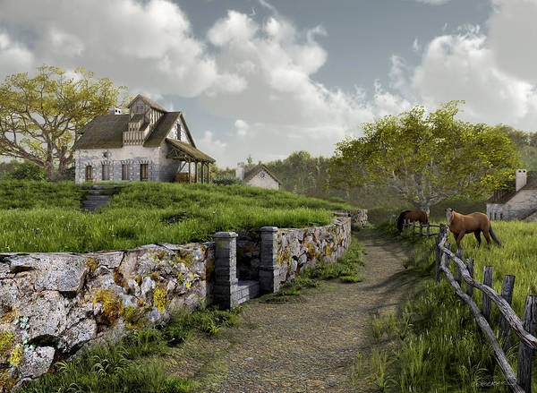 Country House Digital Art - Country Road by Cynthia Decker