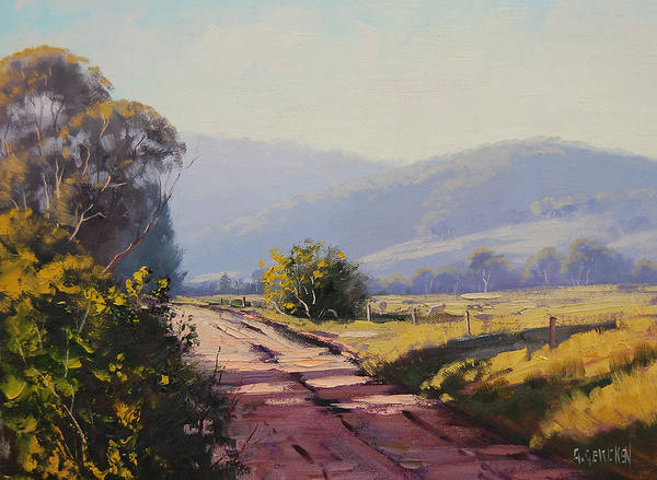 Australia Painting - Country Road by Graham Gercken