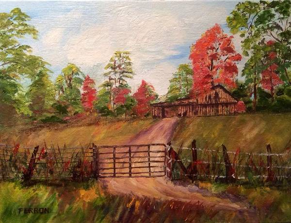 Art Print featuring the painting Country Road by Patti Ferron