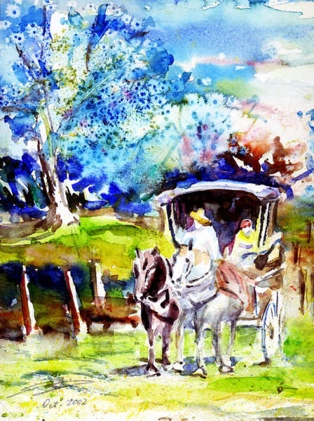 Painting - Country Roads Take Me Home by Xueling Zou