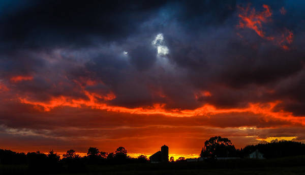 Wall Art - Photograph - Country Sunset by Anna-Lee Cappaert