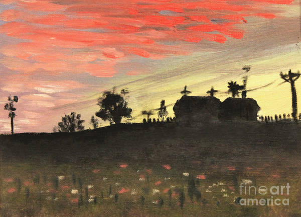 Painting - Country Sunset by Art By Tolpo Collection