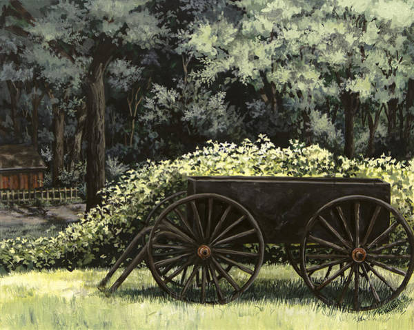 Painting - Country Wagon by Mary Palmer