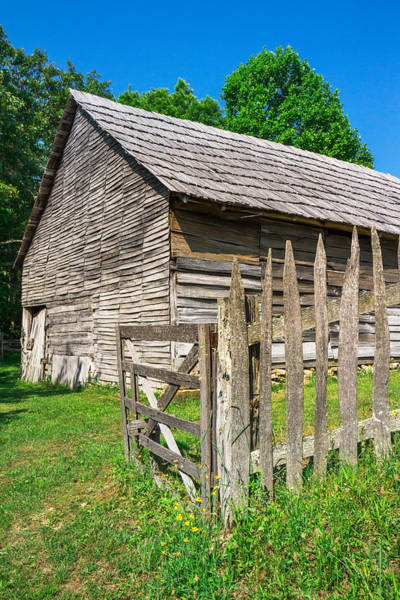 Photograph - Country Weathered Barn by Mary Almond