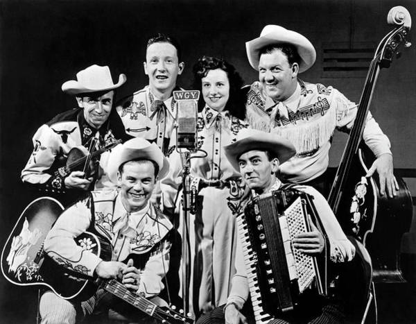 Photograph - Country Western Band Broadcast by Underwood Archives