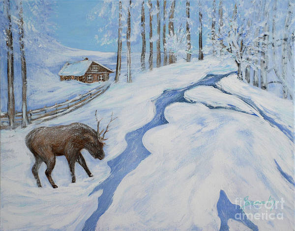 Painting - Country Winter by Oksana Semenchenko