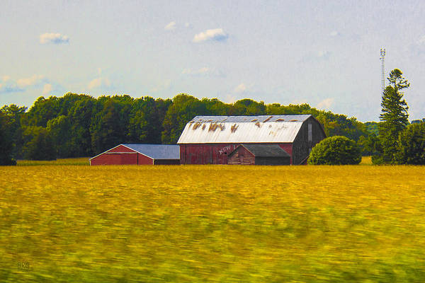 Photograph - Countryside Landscape With Red Barns by Ben and Raisa Gertsberg
