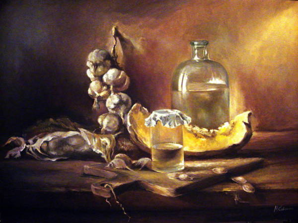 Glass Cutting Painting - Countryside Still Life 2 by Mikhail Savchenko